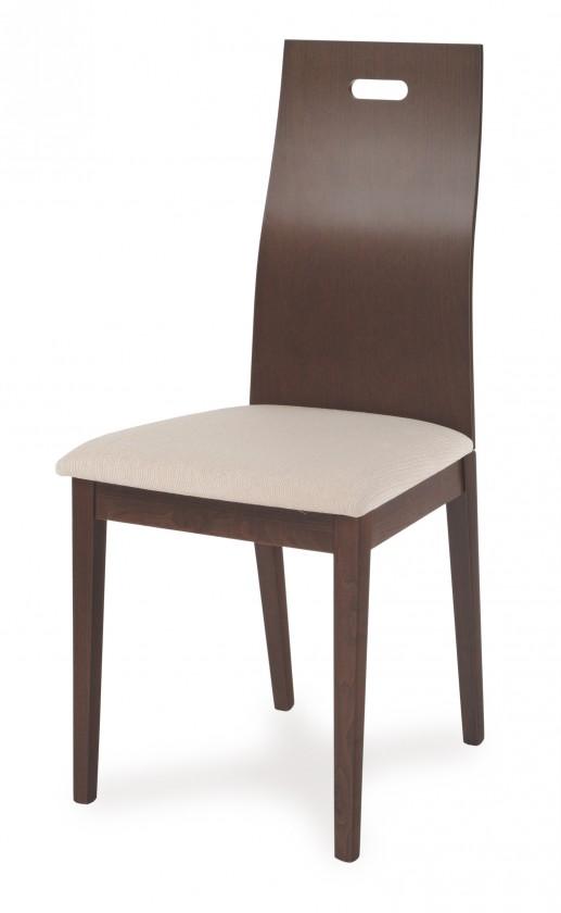 Jídelní židle CHIVARI(buk, moření ořech,potah krémový)