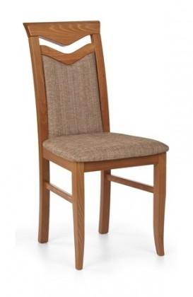 Jídelní židle Citrone - Jídelní židle, buk (třešeň antik/potah světle hnědá)