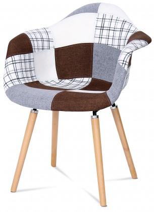 Jídelní židle Color - Jídelní židle s područkami CT-726 (patchwork/masiv buk)