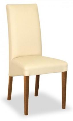 Jídelní židle Corina (ořech/eko kůže elektra, béžová)