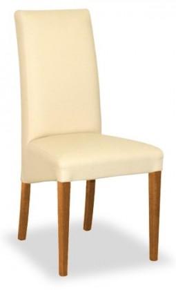 Jídelní židle Corina (třešeň/eko kůže elektra, béžová)