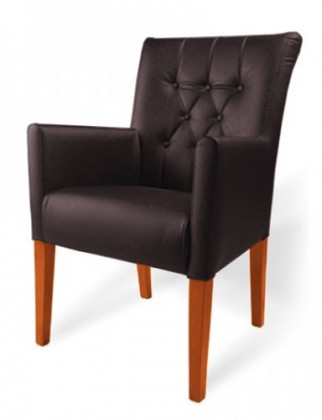 Jídelní židle Cortega (buk toscana/eko kůže frea, tmavě hnědá)