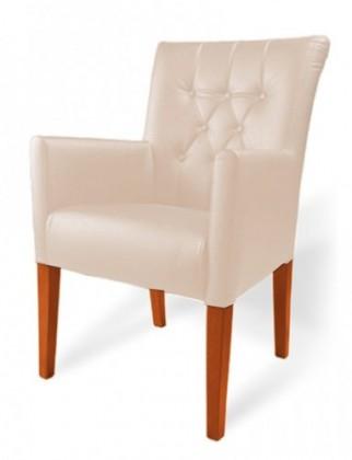 Jídelní židle Cortega (buk toscana/eko kůže modena, béžová)