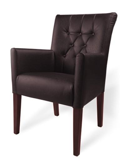 Jídelní židle Cortega (ořech antický/eko kůže frea, tm. hnědá)