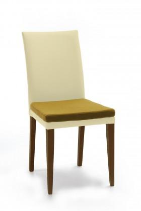 Jídelní židle Crista (jasan/látka carabu světle béžová/sedák hnědá)