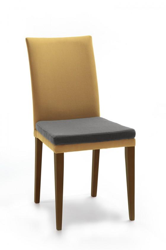 Jídelní židle Crista (jasan/látka carabu světle hnědá/sedák hnědá)