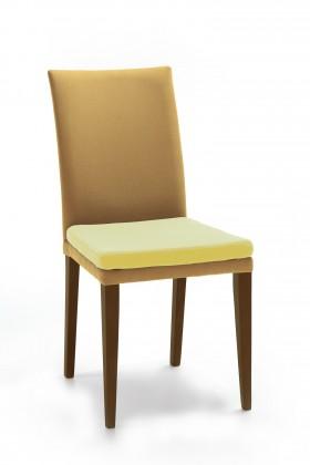 Jídelní židle Crista (jasan/látka carabu světle hnědá/sedák písková)