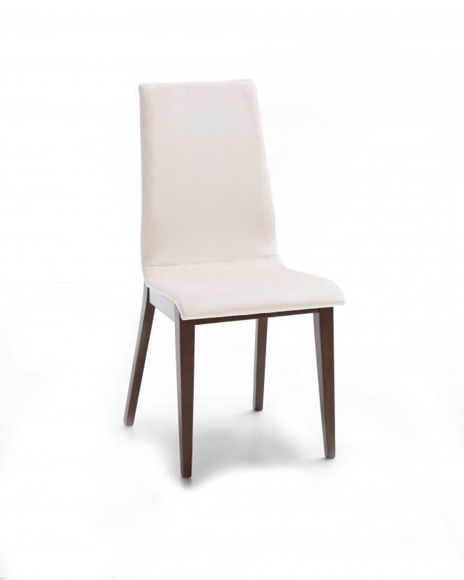 Jídelní židle Cruz (čokoládový jasan / látka antara krémová)