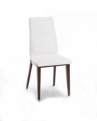 Jídelní židle Cruz (čokoládový jasan / látka carabu bílá)