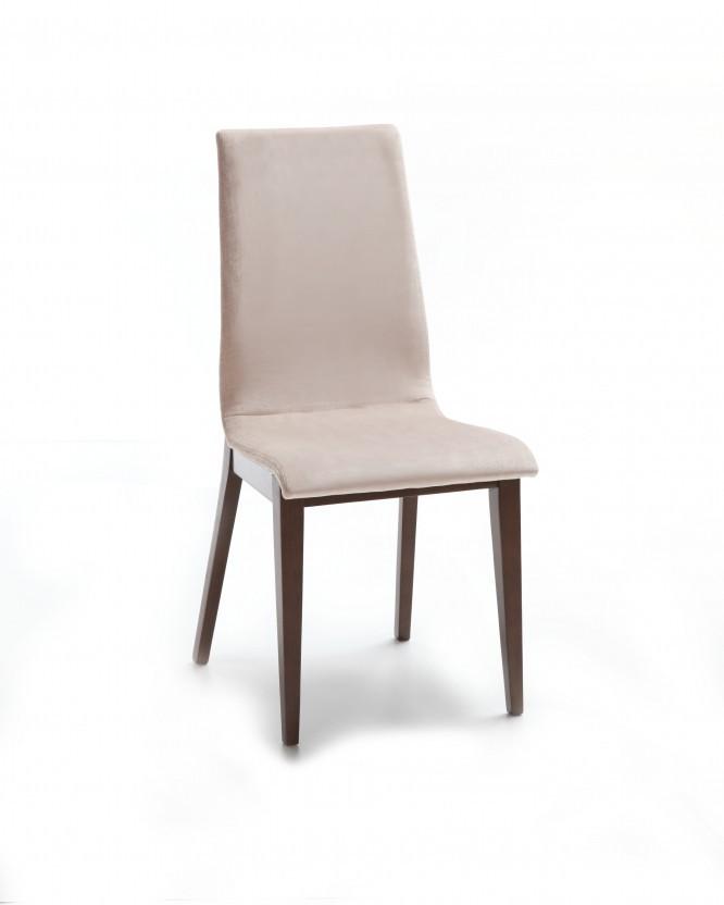 Jídelní židle Cruz (čokoládový jasan / látka navara světle béžová)