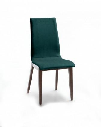 Jídelní židle Cruz (čokoládový jasan / látka orion zelená)