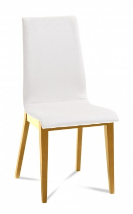 Jídelní židle Cruz (dub/ eko kůže vienna bílá)