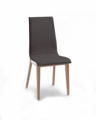 Jídelní židle Cruz (dub / látka navara tmavě šedá)