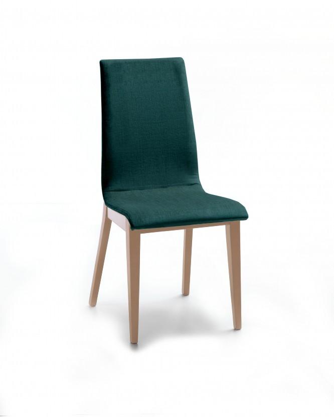 Jídelní židle Cruz (dub / látka orion zelená)