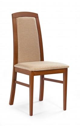 Jídelní židle Dominik - jídelní židle (casilda béžová, třešeň antik)