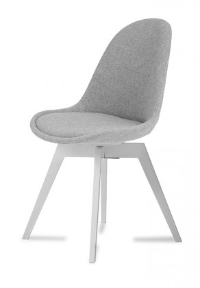 Jídelní židle Donna Bess (sedák šedá / konstrukce bílá)