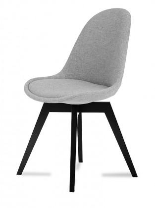 Jídelní židle Donna Bess (sedák šedá / konstrukce černá)