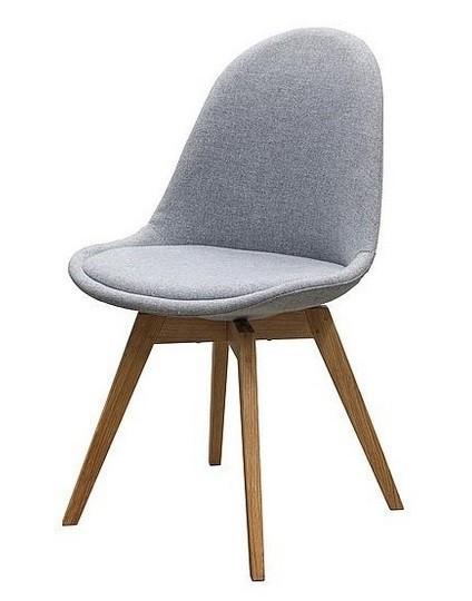Jídelní židle Donna Bess (sedák šedá / konstrukce dub)