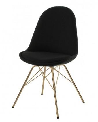 Jídelní židle Donna Porgy (sedák černá / konstrukce bronz)