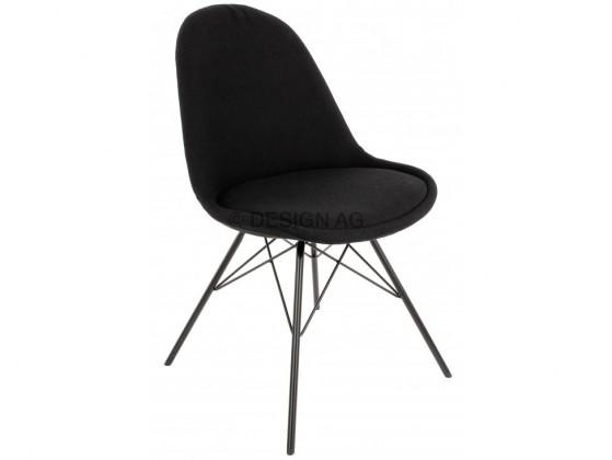 Jídelní židle Donna Porgy (sedák černá / konstrukce černá)