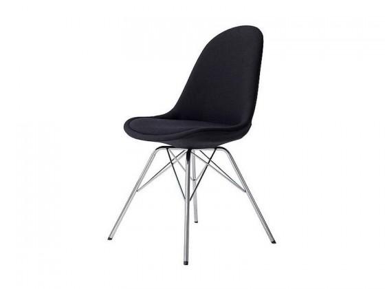 Jídelní židle Donna Porgy (sedák černá / konstrukce chrom)