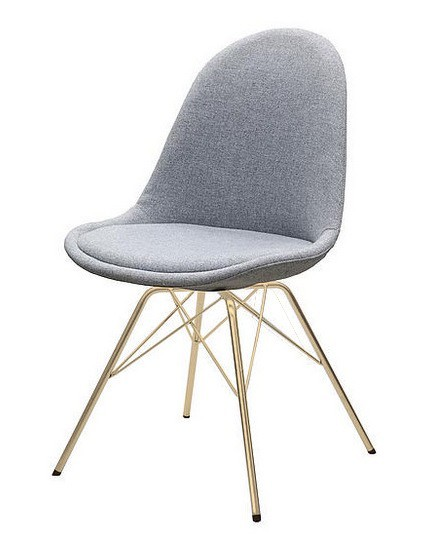 Jídelní židle Donna Porgy (sedák šedá / konstrukce bronz)