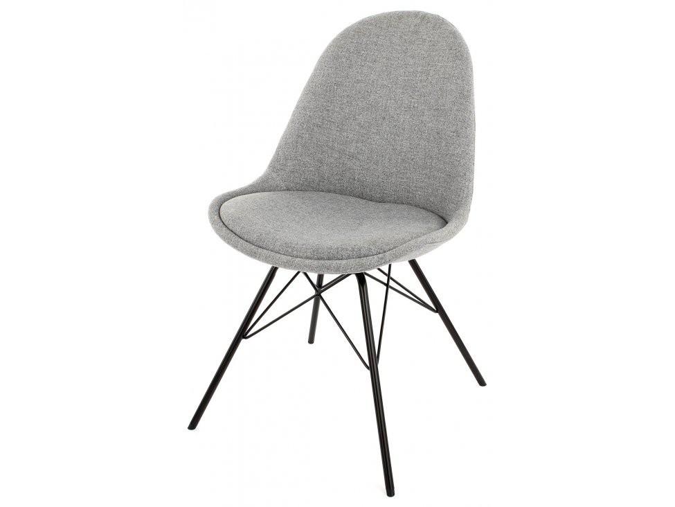Jídelní židle Donna Porgy (sedák šedá / konstrukce černá)