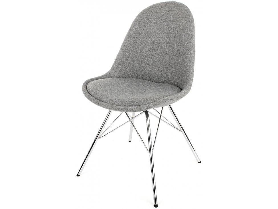 Jídelní židle Donna Porgy (sedák šedá / konstrukce chrom)
