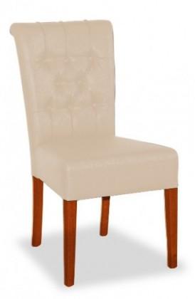 Jídelní židle Doris (buk toscana/eko kůže modena, béžová)