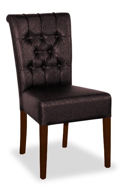 Jídelní židle Doris (ořech antický/eko kůže frea, tmavě hnědá)