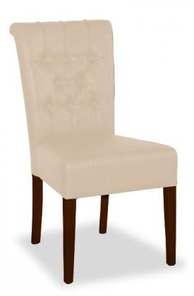 Jídelní židle Doris (ořech antický/eko kůže modena, béžová)