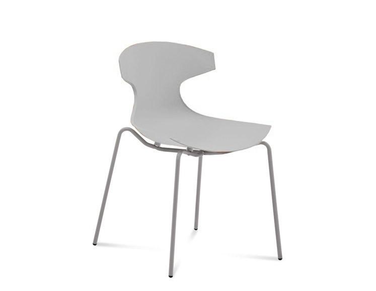 Jídelní židle Echo - Jídelní židle (hliník, bílá)