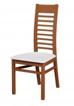 Jídelní židle Eryka (dřevo - tmavý ořech/potah - syntetická kůže)