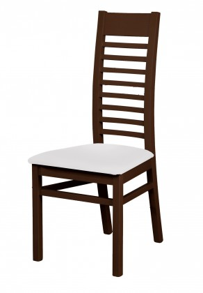 Jídelní židle Eryka - jídelní židle (dřevo - wenge/potah - syntetická kůže)
