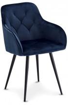 Jídelní židle Fergo modrá, černá