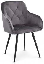 Jídelní židle Fergo šedá, černá