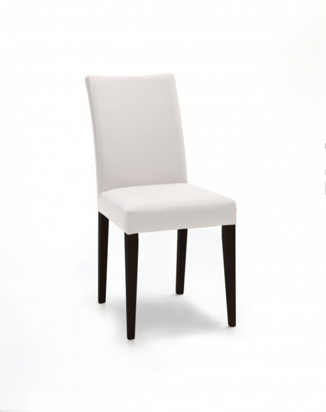 Jídelní židle Fernanda (černá / eko kůže vienna krémová)