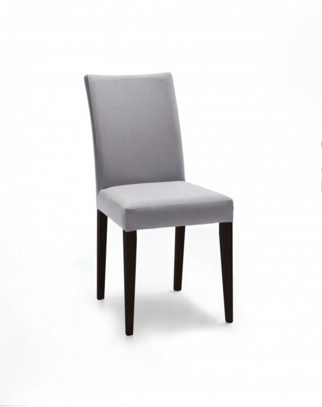 Jídelní židle Fernanda (černá / eko kůže vienna světle šedá)