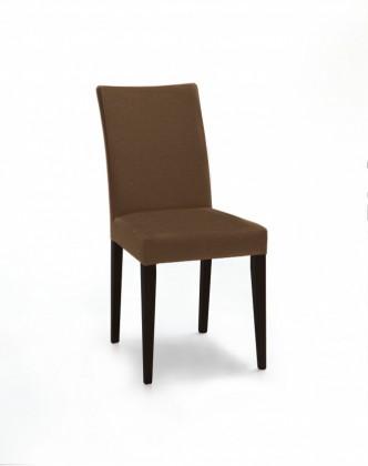Jídelní židle Fernanda (černá / látka carabu hnědá)