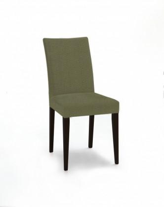 Jídelní židle Fernanda (černá / látka carabu zelená)