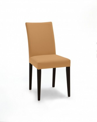 Jídelní židle Fernanda (černá / látka navara hořčicová)