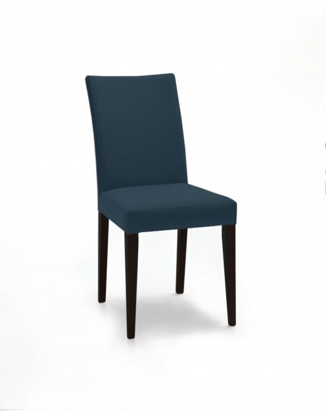 Jídelní židle Fernanda (černá / látka navara petrolejová)