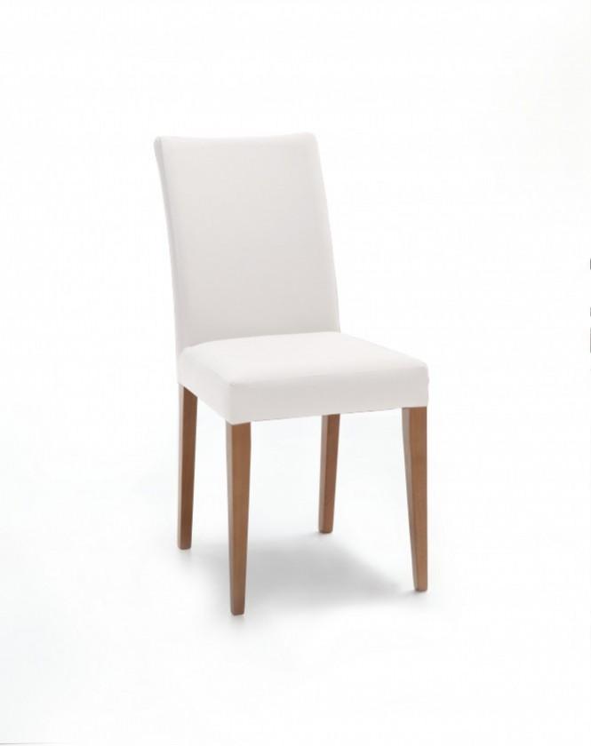 Jídelní židle Fernanda (dub / eko kůže vienna krémová)
