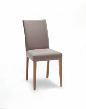Jídelní židle Fernanda (dub / eko kůže vienna světle hnědá)