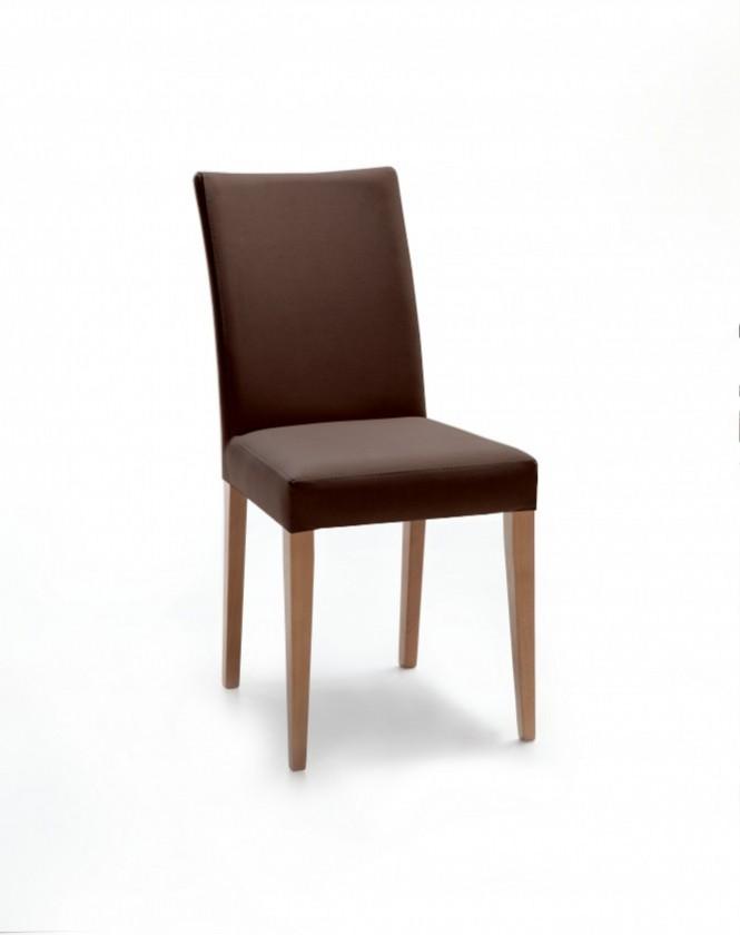 Jídelní židle Fernanda (dub / látka antara tmavě hnědá)