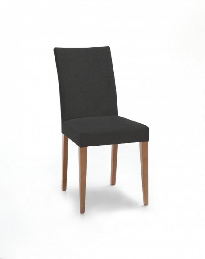 Jídelní židle Fernanda (dub / látka carabu tmavě šedá)