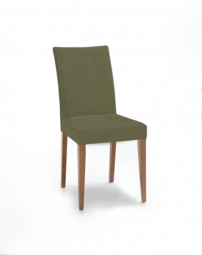 Jídelní židle Fernanda (dub / látka carabu zelená)
