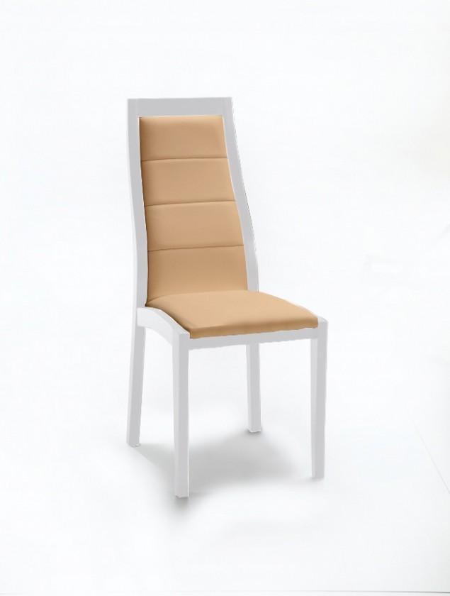 Jídelní židle Floreana (bílá mat / látka antara béžová)