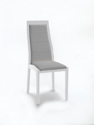 Jídelní židle Floreana (bílá mat / látka carabu šedá)