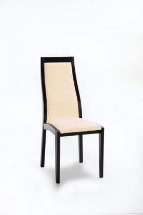 Jídelní židle Floreana (černá / eko kůže kaiman slonová kost)